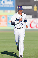 Erick Mejia (29) of the Everett Aquasox prior to a game against the Vancouver Canadian at Everett Memorial Stadium in Everett, Washington on July 27, 2015.  Everett defeated Vancouver 6-0. (Ronnie Allen/Four Seam Images)