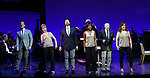 """Hugh Panaro, Ivy Austin, Andrew Fitch, Housso Semon, Hal Shane, Debbie Gravitte during the curtain call bows for """"They're Playing Our Song"""" Concert Benefit for The Actors Fund at the Music Box Theatre on February 11, 2019 in New York City."""