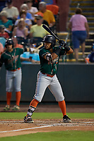 Greensboro Grasshoppers Jonah Davis (36) during a South Atlantic League game against the Delmarva Shorebirds on August 21, 2019 at Arthur W. Perdue Stadium in Salisbury, Maryland.  Delmarva defeated Greensboro 1-0.  (Mike Janes/Four Seam Images)