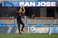 SAN JOSE, CA - SEPTEMBER 05: Clint Irwin #1 during a game between Colorado Rapids and San Jose Earthquakes at Earthquakes Stadium on September 05, 2020 in San Jose, California.