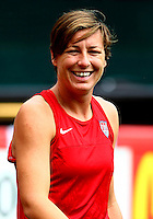 WASHINGTON D.C. - September 02, 2013:<br /> Abby Wambach During a USA WNT open practice at RFK Stadium, in Washington D.C. the day before the USA v Mexico international friendly match.