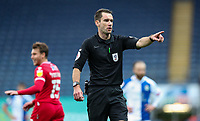 Referee Jarred Gillett<br /> <br /> Photographer Alex Dodd/CameraSport<br /> <br /> The EFL Sky Bet Championship - Blackburn Rovers v Nottingham Forest - Saturday 17th October 2020 - Ewood Park - Blackburn<br /> <br /> World Copyright © 2020 CameraSport. All rights reserved. 43 Linden Ave. Countesthorpe. Leicester. England. LE8 5PG - Tel: +44 (0) 116 277 4147 - admin@camerasport.com - www.camerasport.com