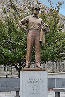General Douglas McArthur sculpture, West Point Military Academy campus, New York, USA