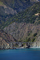 aerial photograph of Big Creek Bridge, Big Sur, Monterey County, California