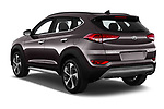 Car pictures of rear three quarter view of a 2018 Hyundai Tucson Executive 5 Door SUV angular rear