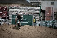 CX World Champion Mathieu van der Poel (NED/Corendon-Circus) plowing through the sand<br /> <br /> Jaarmarktcross Niel 2019 (BEL)<br /> <br /> ©kramon