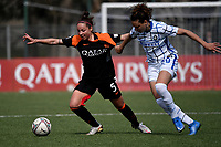 Vanessa Bernauer of AS Roma and Ilaria Mauro of FC Internazionale compete for the ball during the Women Serie A football match between AS Roma and FC Internazionale at stadio Agostino Di Bartolomei, Roma, March 20th, 2021. AS Roma won 4-3 over FC Internazionale. Photo Andrea Staccioli / Insidefoto