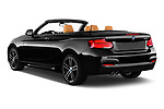 Car pictures of rear three quarter view of a 2018 BMW 2 Series M Sport 2 Door Convertible angular rear