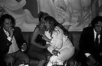 LUIGI BORGHESE, BARBARA BOUCHET ANITA EKBERG E WALTER CHIARI<br /> FESTA CRISTIANO MALGIOGLIO - OPEN GATE  ROMA 1981