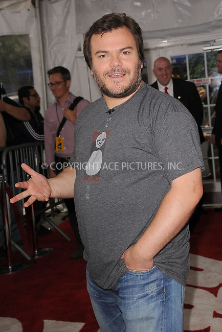 """WWW.ACEPIXS.COM . . . . . .May 24, 2011...New York City...Actor Jack Black attends the New York premiere of 'Kung Fu Panda 2"""" at Ziegfeld Theatre on May 24, 2011 in New York City.....Please byline: KRISTIN CALLAHAN - ACEPIXS.COM.. . . . . . ..Ace Pictures, Inc: ..tel: (212) 243 8787 or (646) 769 0430..e-mail: info@acepixs.com..web: http://www.acepixs.com ."""