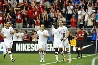 Team mates celebrate Jozy Altidore's goal...USMNT defeated Guadeloupe 1-0 in Gold Cup play at LIVESTRONG Sporting Park, Kansas City, Kansas.