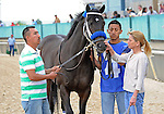 10 April 08: Total Bull (no. 4), ridden by Calvin Borel and trained by Bob Baffert, wins the 22nd running of the Fifth Season Stakes for four year olds and upward at Oaklawn Park in Hot Springs, Arkansas.