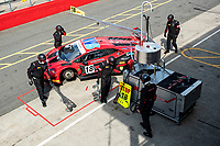 The pit team prepare the car of Michael Igoe & Phil Keen, Lamborghini Huracan GT3 EVO, WPI Motorsport before qualifying during the British GT & F3 Championship on 10th July 2021