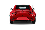 Straight rear view of 2019 Mazda MX-5 Selection 2 Door Targa Rear View  stock images