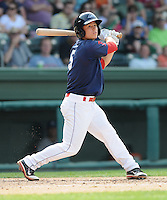 Infielder Sean Coyle (5) of the Greenville Drive, Class A affiliate of the Boston Red Sox, in a game against the Asheville Tourists on May 1, 2011, at Fluor Field at the West End in Greenville, S.C. Coyle was a third-round pick in the 2010 First-Year Player Draft. Photo by Tom Priddy / Four Seam Images