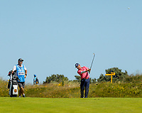 140719 | The 148th Open - Sunday Practice<br /> <br /> Louis Oosthuizen plays into the 17th green during practice for the 148th Open Championship at Royal Portrush Golf Club, County Antrim, Northern Ireland. Photo by John Dickson - DICKSONDIGITAL