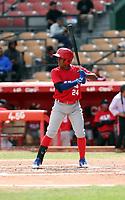 Jose Lopez participates in the MLB International Showcase at Estadio Quisqeya on February 22-23, 2017 in Santo Domingo, Dominican Republic.