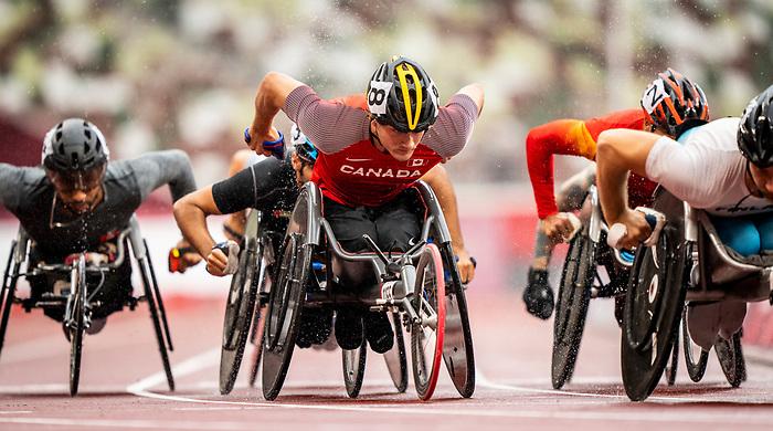 Austin Smeenk, Tokyo 2020 - Para Athletics // Para-athlétisme.<br /> Austin Smeenk competes in the men's 800m T34 final // Austin Smeenk participe à la finale masculine du 800 m T34. 04/09/2021.