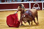 Spanish bullfighter Antonio Ferrera performs during the 1th bullfight of the San Sebastian Fair, at the Illumbe bullring, in San Sebastian, Spain, 14 August 2019. (ALTERPHOTOS/Yurena Paniagua)