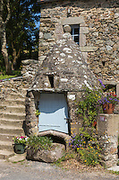 France, Manche (50), Cap de la Hague, Gréville-Hague, hameau de Gruchy, puits // France, Manche, Cotentin, Cap de la Hague, Greville Hague, hamlet of Gruchy, well