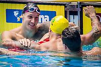 Caeleb Dressel of USA celebrates after winning the men's 50m freestyle final during 18th Fina World Championships Gwangju 2019 at Nambu University Municipal Aquatics Centre, Gwangju, on 27  July 2019, Korea.  Photo by : Ike Li / Prezz Images