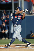 Kurt Suzuki of the Cal State Fullerton Titans bats during a 2004 season game at Goodwin Field in Fullerton, California. (Larry Goren/Four Seam Images)