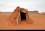 Navajo Dine Forked-Stick Male Hogan, Monument Valley Navajo Tribal Park, Navajo Nation Reservation, Utah/Arizona Border