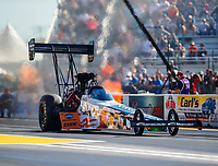 Sep 30, 2017; Madison , IL, USA; NHRA top fuel driver Clay Millican during qualifying for the Midwest Nationals at Gateway Motorsports Park. Mandatory Credit: Mark J. Rebilas-USA TODAY Sports