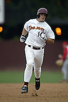 Jeff Clement of the Southern California Trojans runs the bases during a game at Dedeaux Field on February 15, 2003 in Los Angeles, California. (Larry Goren/Four Seam Images)