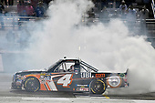 2017 NASCAR Camping World Truck Series - Active Pest Control 200<br /> Atlanta Motor Speedway, Hampton, GA USA<br /> Saturday 4 March 2017<br /> Christopher Bell celebrates his win with a burnout.<br /> World Copyright: Nigel Kinrade/LAT Images<br /> ref: Digital Image 17ATL1nk06664