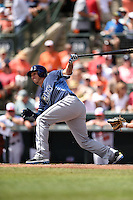 Tampa Bay Rays shortstop Asdrubal Cabrera (13) during a Spring Training game against the Baltimore Orioles on March 14, 2015 at Ed Smith Stadium in Sarasota, Florida.  Tampa Bay defeated Baltimore 3-2.  (Mike Janes/Four Seam Images)