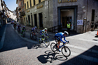 Mathias Norsgaard (DEN/Movistar) in the breakaway group<br /> <br /> 112th Milano-Sanremo 2021 (1.UWT)<br /> 1 day race from Milan to Sanremo (299km)<br /> <br /> ©kramon