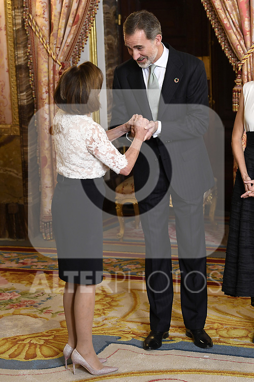 King Felipe VI of Spain receives U.S. House Speaker Nancy Pelosi because of the United Nations conference for the Climate Summit 2019 (COP25) at the Royal Palace. December 2,2019. (ALTERPHOTOS/Pool/Carlos Alvarez)