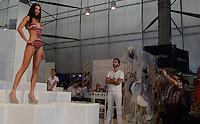 MEDELLÍN -COLOMBIA-27-01-2015. Pasarela Lycra - Ropa Exterior, salidas de baño y playa durante  Colombiatex 2015 que se lleva cabo en Plaza Mayor de la ciudad de  Medellín./ Gateway Lycra - Exterior Clothing, bathrobes and beach during Colombiatex 2015 at Plaza Mayor in Medellin, Colombia.  Photo:VizzorImage / Luis Rios / STR