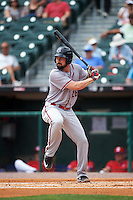 Syracuse Chiefs right fielder Caleb Ramsey (28) at bat during a game against the Buffalo Bisons on July 31, 2016 at Coca-Cola Field in Buffalo, New York.  Buffalo defeated Syracuse 6-5.  (Mike Janes/Four Seam Images)