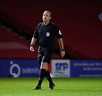 Referee Carl Boyeson<br /> <br /> Photographer Andrew Vaughan/CameraSport<br /> <br /> EFL Papa John's Trophy - Northern Section - Group E - Lincoln City v Manchester City U21 - Tuesday 17th November 2020 - LNER Stadium - Lincoln<br />  <br /> World Copyright © 2020 CameraSport. All rights reserved. 43 Linden Ave. Countesthorpe. Leicester. England. LE8 5PG - Tel: +44 (0) 116 277 4147 - admin@camerasport.com - www.camerasport.com