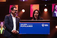 La soiree electorale de Quebec Solidaire, le 1er octobre 2018<br /> <br /> PHOTO : Agence Quebec Presse<br /> - Philippe Manh Nguyen