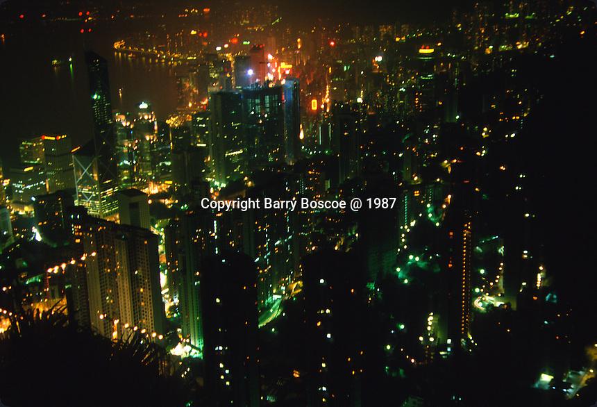 Night scene of Hong Kong, China