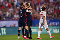 11th Mach 2020, Frisco, Texas, USA;  Players of USA celebrate Christen Press s goal during the 2020 SheBelieves Cup Womens International Friendly,  football match between USA Women versus Japan Women at Toyota Stadium in Frisco, Texas, USA.