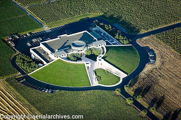 aerial photograph Opus One Winery Napa County, California