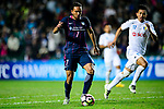 FC Kitchee Midfielder Fernando Augusto (l) looks to bring the ball down during the AFC Champions League 2017 Preliminary Stage match between  Kitchee SC (HKG) vs Hanoi FC (VIE) at the Hong Kong Stadium on 25 January 2017 in Hong Kong, China. Photo by Marcio Rodrigo Machado / Power Sport Images