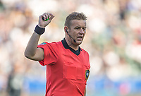 CARSON, CA - SEPTEMBER 29: Alan Kelly center ref during a game between Vancouver Whitecaps and Los Angeles Galaxy at Dignity Health Sports Park on September 29, 2019 in Carson, California.