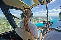 Robinson R22 helicopter cockpit