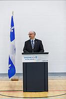 Inauguration Ecole St-Philippe, le 18 Janvier 2017 en presence du Ministre de l'Education Sebastien Roberge<br /> et du depute Merlini (sur la photo)<br /> <br /> PHOTO : Agence Quebec Presse