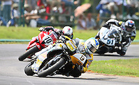 Danny Eslick leads the pack at the Suzuki Big Kahuna Nationals, Virginia International Raceway, Alton, VA, August 2009. (Photo by Briain Cleary/www.bcpix.com)