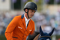 3rd October 2021;  Real Club de Polo, Barcelona, Spain; CSIO5 Longines FEI Jumping Nations Cup Final 2021; Harrie Smolders from NED during the FEI Jumping Nations Cup Final 2021