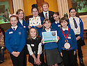 """Litter Strategy Awards 2013 : Councillor Craig R Martin presents the """"Education's Litter Lovelies"""" award to Victoria Primary School."""