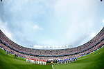 Atletico de Madrid's players and Real Madrid's players during Champions League 2014/2015 Quarter-finals 1st leg match.April 14,2015. (ALTERPHOTOS/Acero)