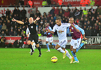 swansea...sport..swansea v aston villa...friday 26th december 2014...<br /> <br /> <br /> Swansea's Wayne Routledge