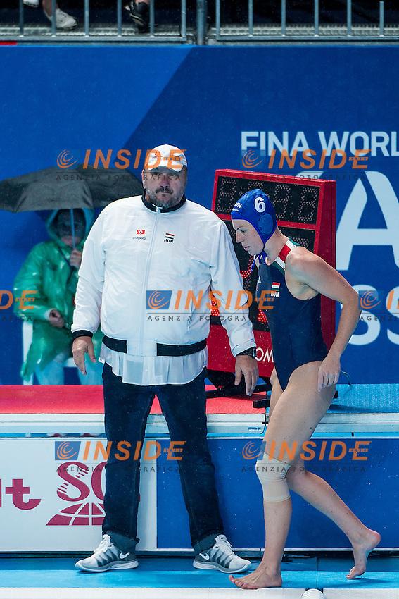 (L to R) MERESZ Andras TACAKS Orsolya HUN<br /> Preliminary Round II<br /> Waterpolo - Waterpolo Arena<br /> Day09 01/08/2015<br /> XVI FINA World Championships Aquatics Swimming<br /> Kazan Tatarstan RUS July 24 - Aug. 9 2015 <br /> Photo A.Masini/Deepbluemedia/Insidefoto